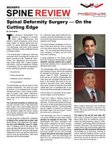Becker's Spine Review- BoneScalpel Article